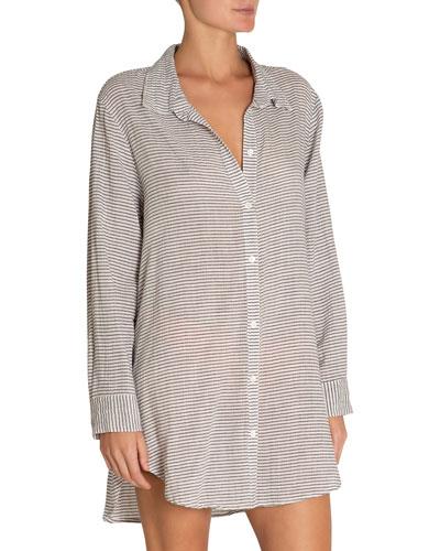 e06054004ef28 Quick Look. Eberjey · Strada Striped Coverup Beach Shirt