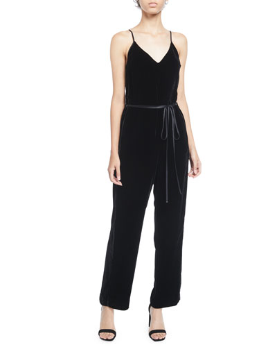 1a2ff9e6bc5a Belted Black Jumpsuit