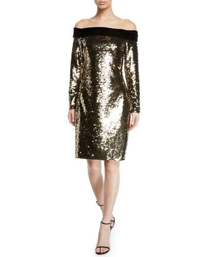 3422a64fca32 Sequin Spandex Dress | Neiman Marcus