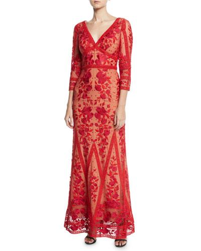 06f803e7 Marchesa Notte V Neckline Gown | Neiman Marcus