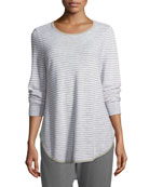 Eileen Fisher Petite Linen-Blend Slub Top
