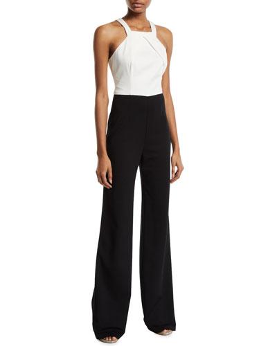 2774c3e829a1 White Black Jumpsuit