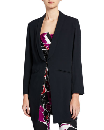 Critic Silky Satin Crepe Long Blazer