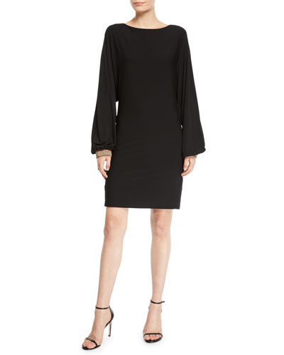 Jazz Hands Cuffed Long-Sleeve Dress