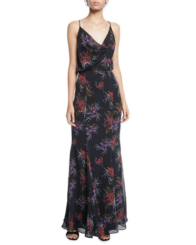 The Theodora Crisscross Floral-Print Dress