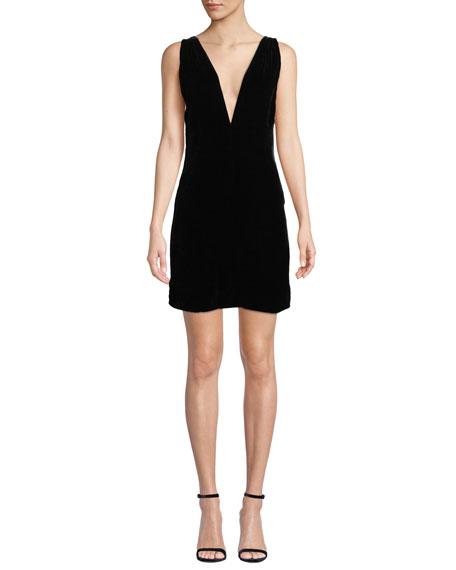 Fame and Partners The Ennis V-Neck Velvet Dress