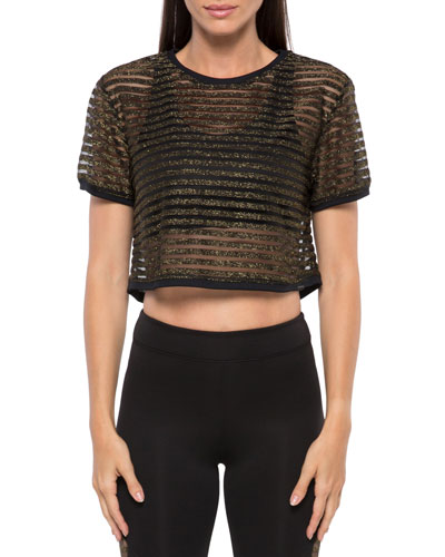 0d08af195b475c Quick Look. Koral Activewear · Terrain Metallic Active Crop Top