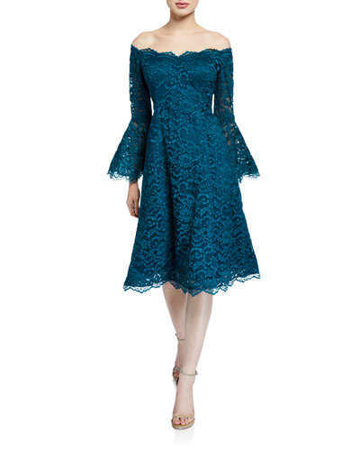 f66f80dbdfc Blue Long Sleeve Cocktail Dress