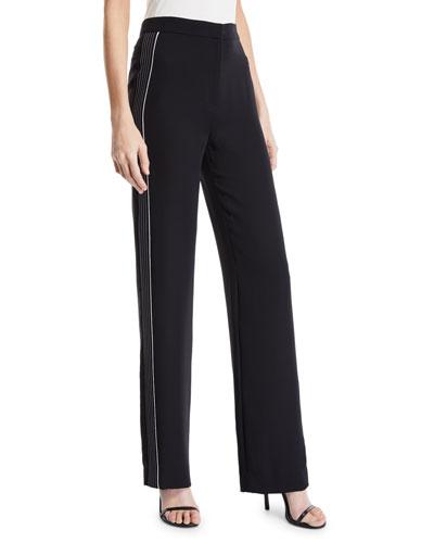 Contrast Stripes Georgette Pants