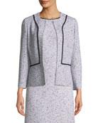 St. John Collection Alicia Tweed Jacket w/ Silk