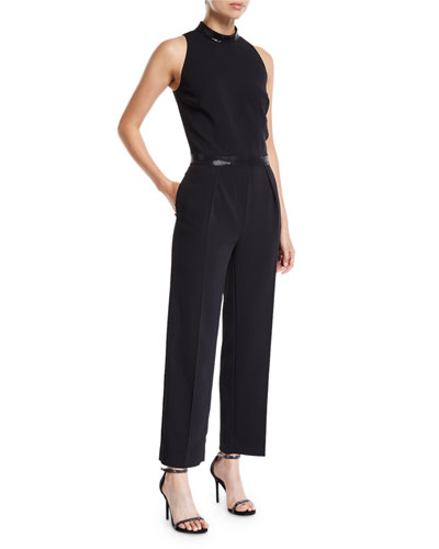 7229d5b402d Quick Look. St. John Collection · Sleeveless Stretch Viscose Cady Capri  Jumpsuit