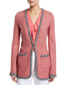 St. John Collection Bibi Knit Tweed Jacket