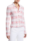 St. John Collection Becca Button-Down Tweed Jacket and