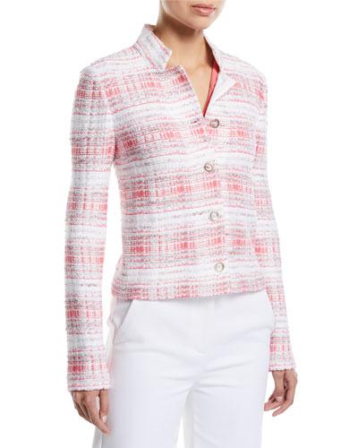 Becca Button-Down Tweed Jacket