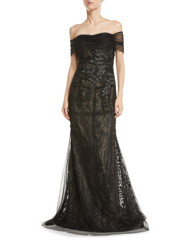 dbf32be583 Black Tulle Gown