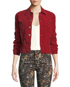 AG Adriano Goldschmied Robyn Button-Front Corduroy Jean Jacket