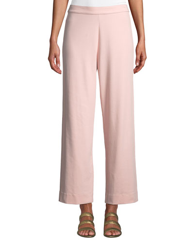 Easy Stretch-Interlock Straight-Leg Ankle Pant