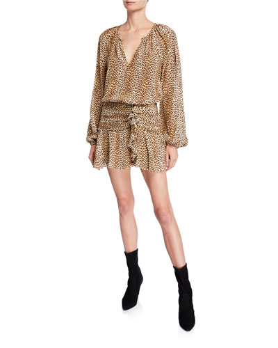 d160c54ccb Quick Look. Ramy Brook · Jeannie Leopard-Print Silk Flounce Dress