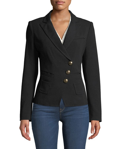 Smythe Tailored Double-Breasted Wrap Blazer