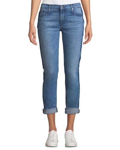 Harper Skinny Boyfriend Jeans with Star Details