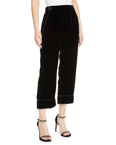 The Velvet Pajama Cropped Trousers