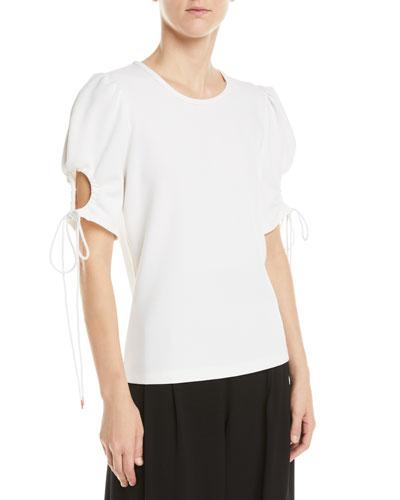 Tie-Sleeve Knit Top