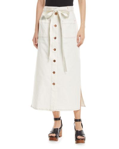 77f273aee247 Front Slit Midi Skirt | Neiman Marcus