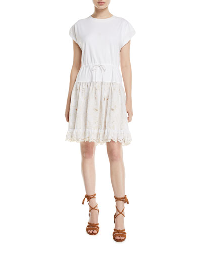 4c4b72b7f42c Scalloped Cotton Lace Dress