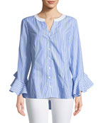 Finley Sweet Blue Somethings Carmella Striped Blouse