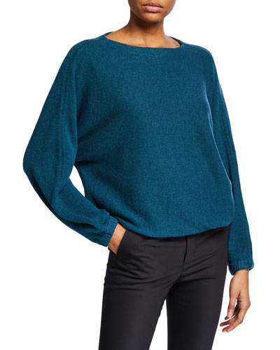 Mogan Ribbed Scoop-Neck Pullover Sweater