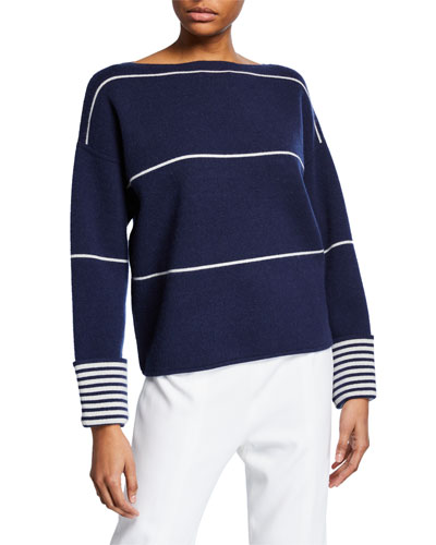 Quick Look. Club Monaco · Esquinah Striped Cashmere Boat-Neck Sweater b26025a2d