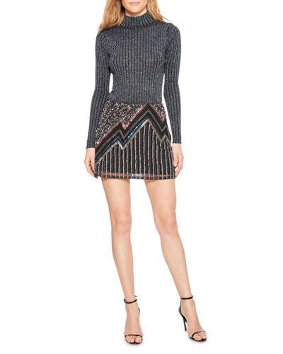 d5781a3d6b326f Quick Look. Parker · Corsica Beaded Metallic Mini Skirt