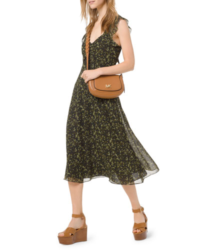 Camo Butterflies Sleeveless A-Line Dress
