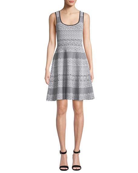 MICHAEL Michael Kors Sleeveless Fit-and-Flare Animal-Print Dress