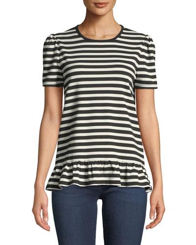 30e1e1a263 Viscose White Striped Top