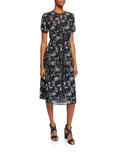 e88187463737 Quick Look. MICHAEL Michael Kors · Floral Sequins Crewneck Short-Sleeve  Dress
