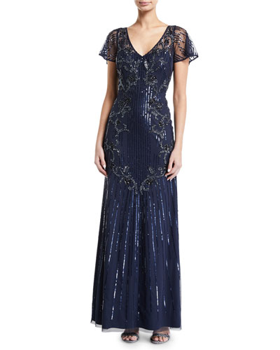7fc7faf82235 Sheer Evening Gown | Neiman Marcus