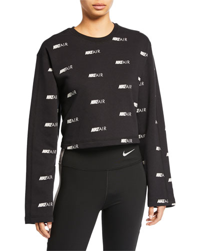 Nike Air Printed Cropped Pullover