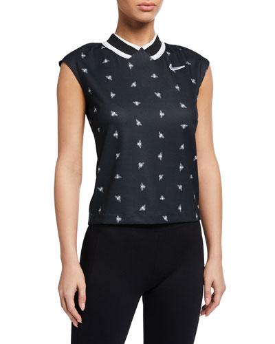 Nikecourt Bee Print Striped Top