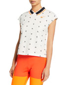 Nike NikeCourt Cropped Cap-Sleeve Top and Matching Items
