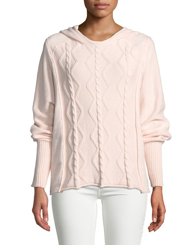 Petite Forest Dolman-Sleeve  Pullover Hoodie Sweater