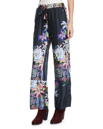 abbef2c9166 Quick Look. Johnny Was · Plus Size Kelly Floral-Print Pants ...