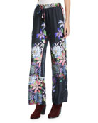 Johnny Was Plus Size Kelly Floral-Print Pants with