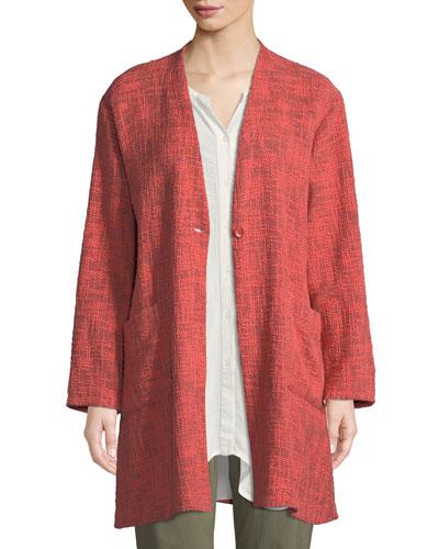 Jordana Melange Boucle Single-Button Jacket