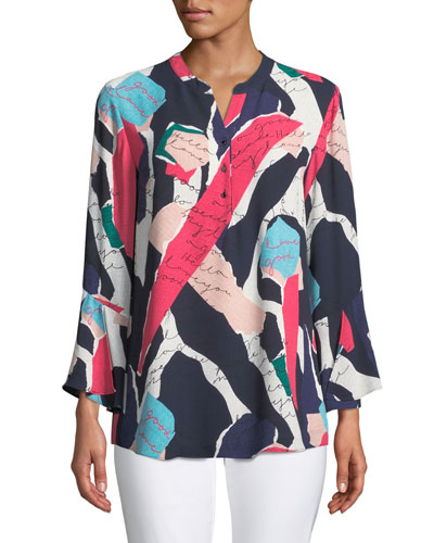 Plus Size Love Letter Printed Tunic