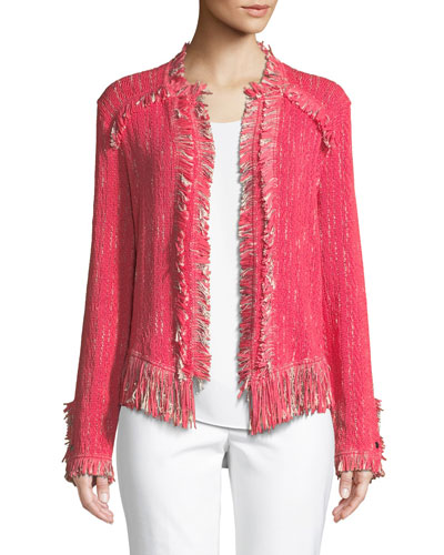 Plus Size Fancy Fringed Jacket