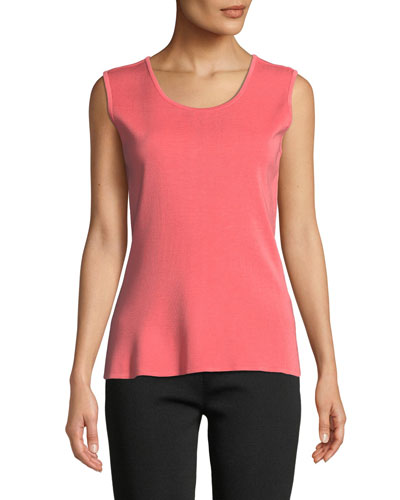 Petite Scoop-Neck Knit Tank