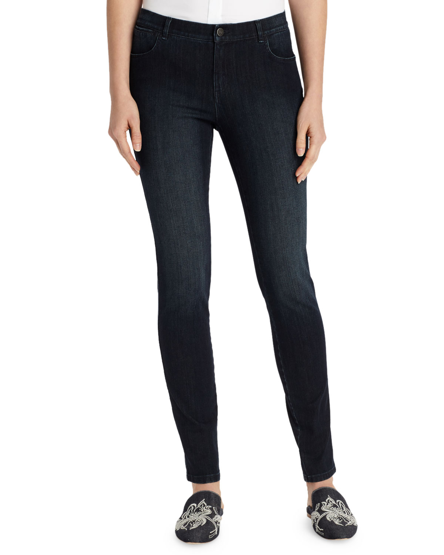Mercer Stretch-Denim Slim-Leg Jeans, Plus Size in Indigo