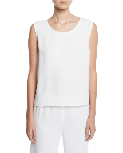 Petite Crepe Suzette Basic Tank with Slit Sides