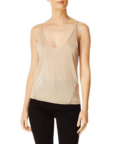Lucy Metallic V-Neck Cami